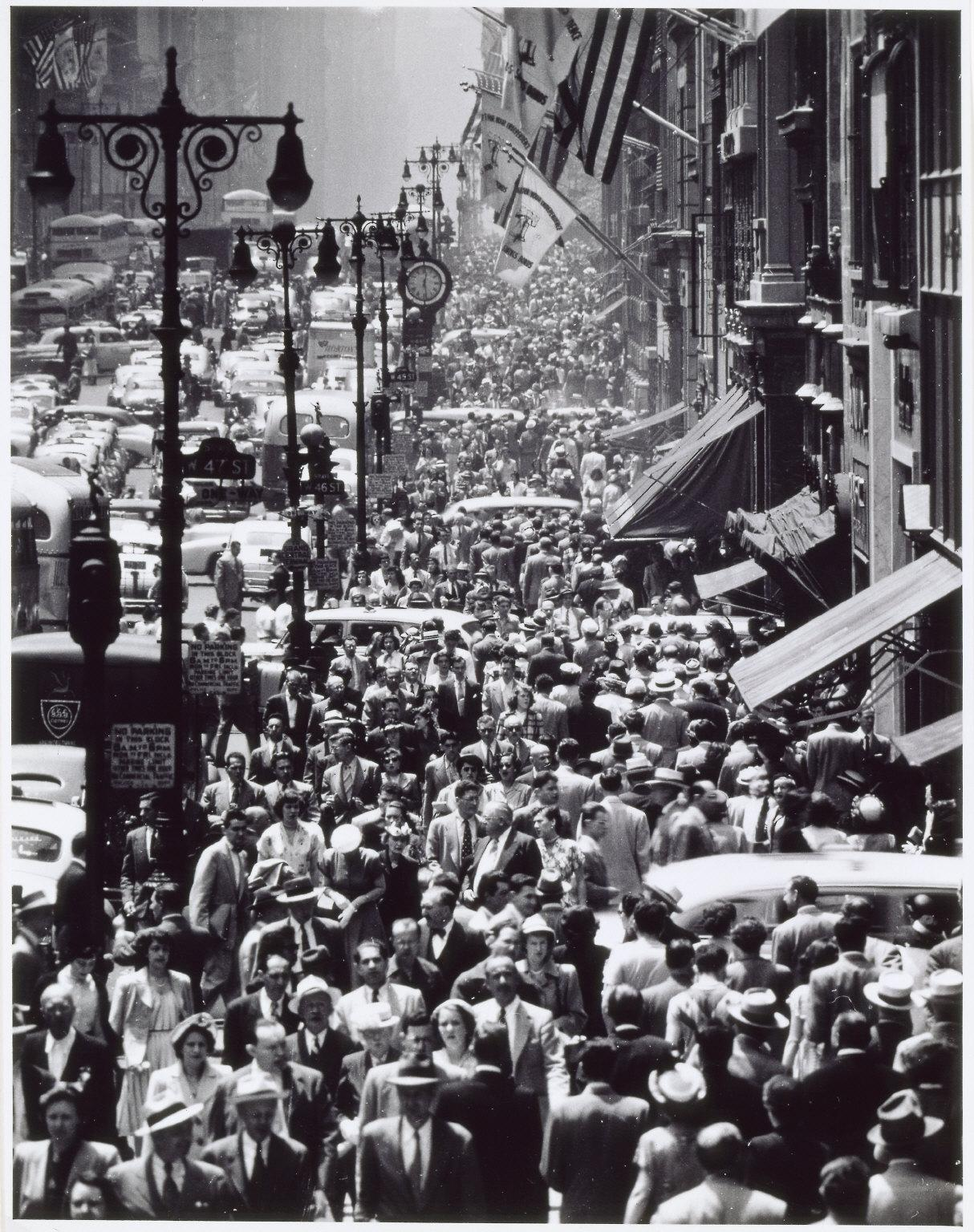Andreas Feininger Lunch Rush On Fifth Avenue New York C